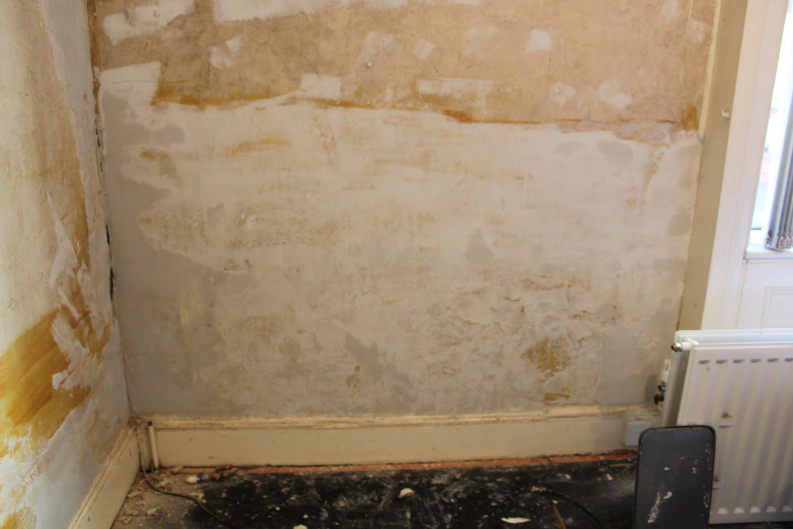 repairing bumpy plaster
