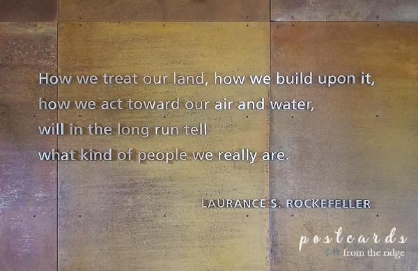 Rockefeller wall quote at Grand Tetons National Park
