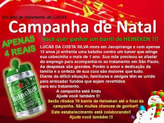 Campanha em prol do menino Lucas de Jacupiranga