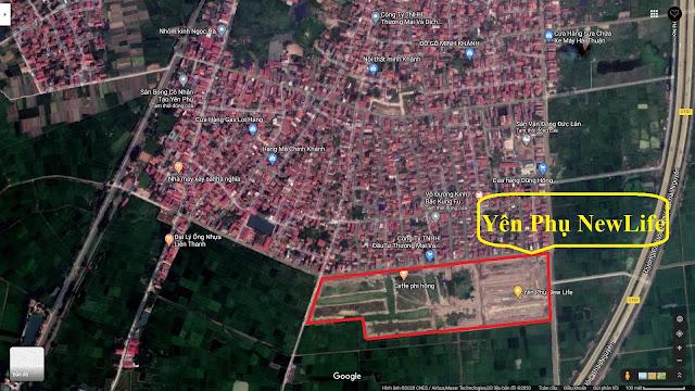 bản đồ vệ tinh Yên Phụ Newlife