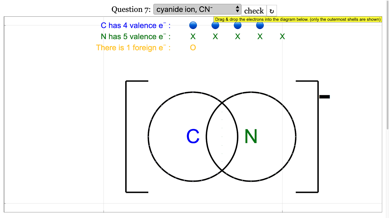 O Level Chemical Bonding Dot And Cross Diagrams Javascript Simulation Applet Html5