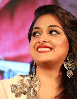 Keerthy Suresh in white Dress with Cute Smile in Saamy Square Audio Launch 8