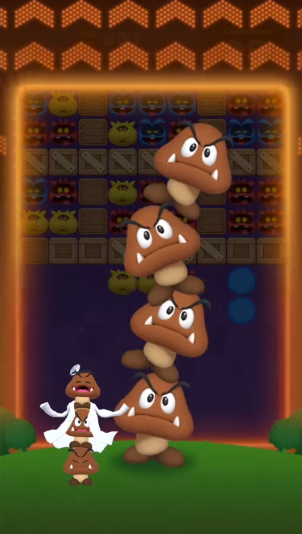 Dr. Goomba Tower Mario World mobile stage mode skill stacked