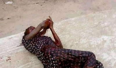 Mad Man Butchers Mom's Friend Moments After He Attempted To Kill His Mother In Ahoada