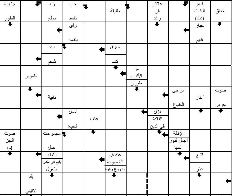 تحميل الكلمات المسهمة المغربية pdf