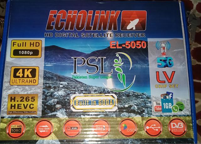 ECHOLINK EL-5050 NEOSAT N-7000D 1506LV 1G 8M NEW SOFTWARE 16 MARCH 2021