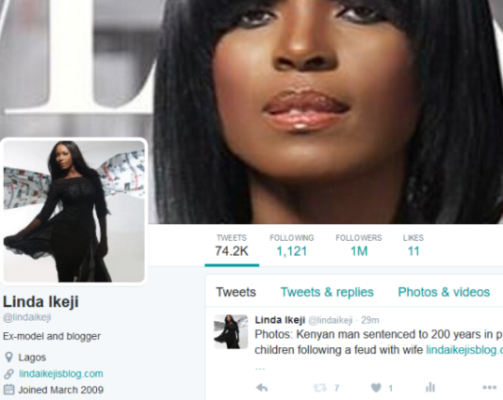 linda ikeji fake twitter account