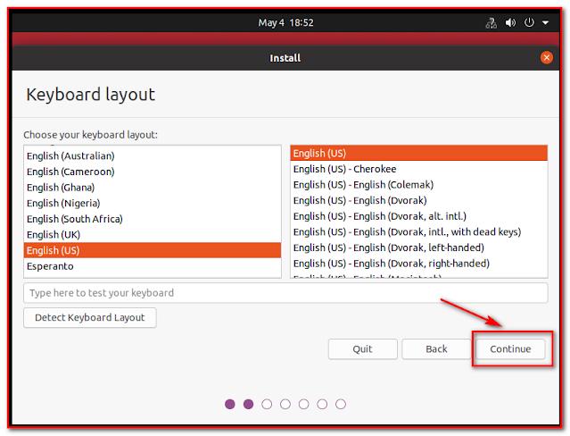 Select Kayboard Layout