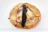 TARTA DE MANZANA CALIENTE CON HELADO y CHOCOLATE