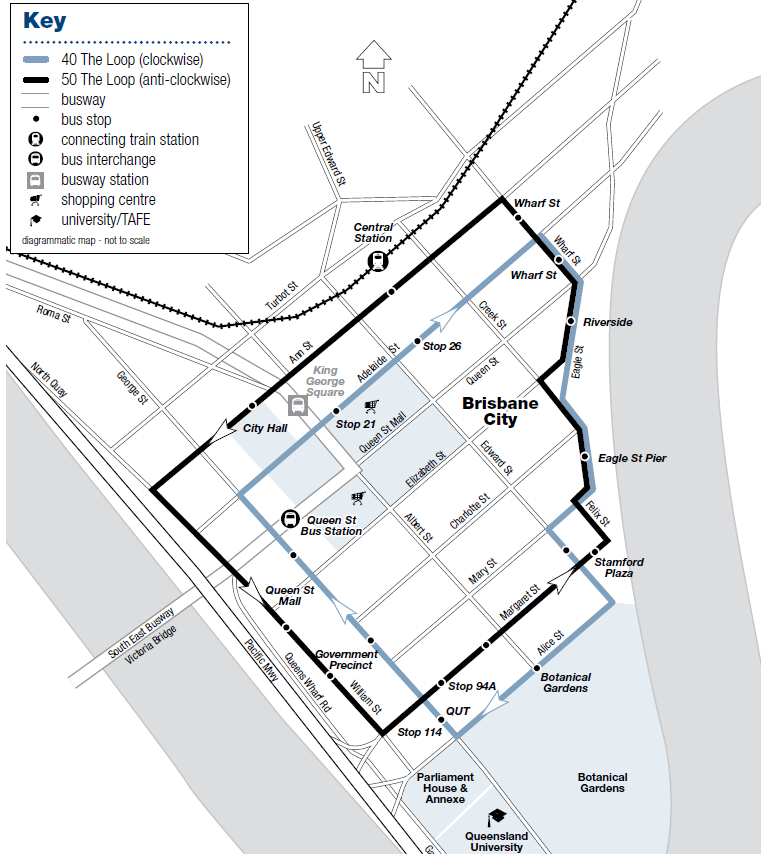 布里斯本-交通-免費-巴士-公車-地圖-Map-旅遊-自由行-澳洲-Brisbane-Transport-Free-Bus-Loop-Travel-Australia