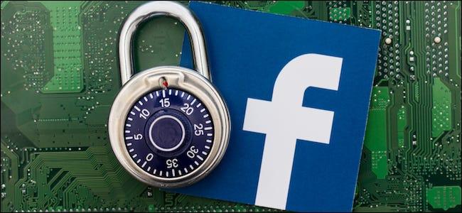 شعار Facebook بجانب القفل