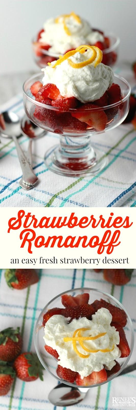 Strawberries Romanoff | Renee's Kitchen Adventures