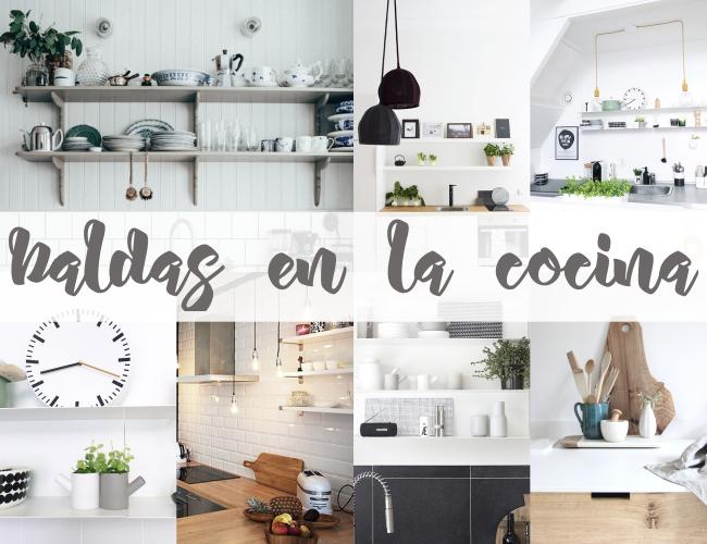 Como decorar con gracia las baldas de una cocina boho - Como decorar la cocina ...