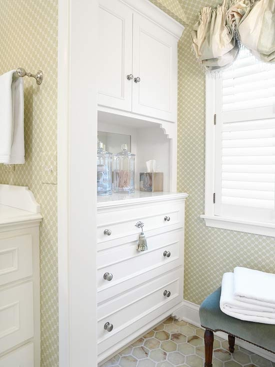 Master Bathroom Built Ins