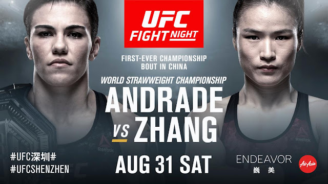 UFC Fight Night 157 .. UFC On ESPN+ 15 Jessica Andrade Vs Welli Zhang