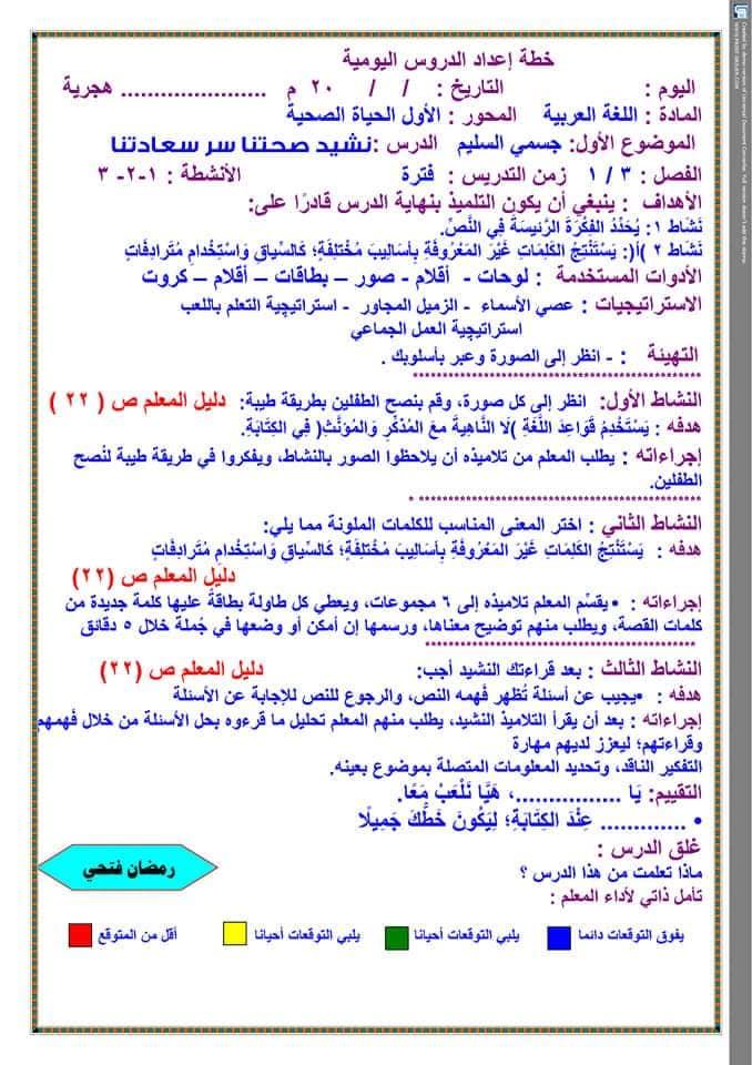 تحضير دروس نافذة اللغة العربية للصف الثالث الابتدائي  أ / رمضان فتحي 11