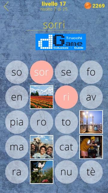 650 Parole soluzione livello 17 (1 - 25) | Parola e foto