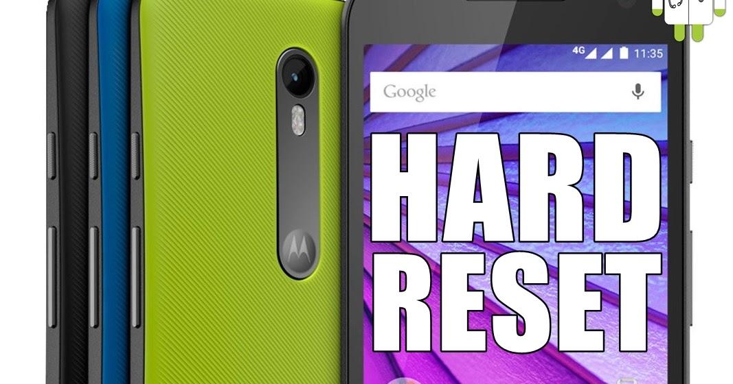 UTI Cell: Hard Reset no Motorola Moto G 3ª Geração (XT1543