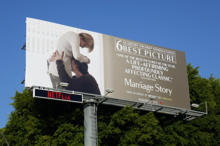 Marriage Story Oscar nominee billboard