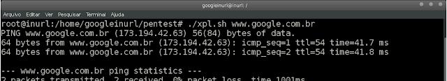 Vamos usar um exemplo simples de ping um script dispara um ping contra o host Exemplo de script 1 para  1: ./xpl.sh 'www.google.com.br'