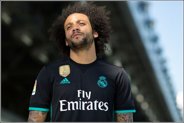 Adidas Real Madrid 2017-18 Away Jersey - Black Aero Reef