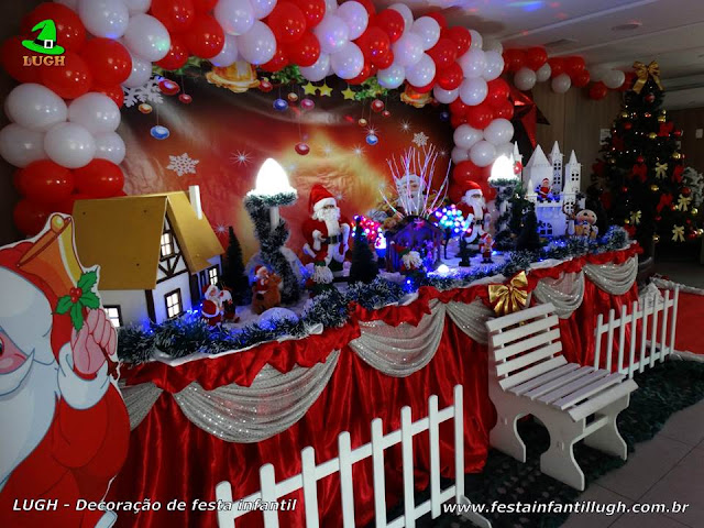 Decoração de aniversário com tema Natalino
