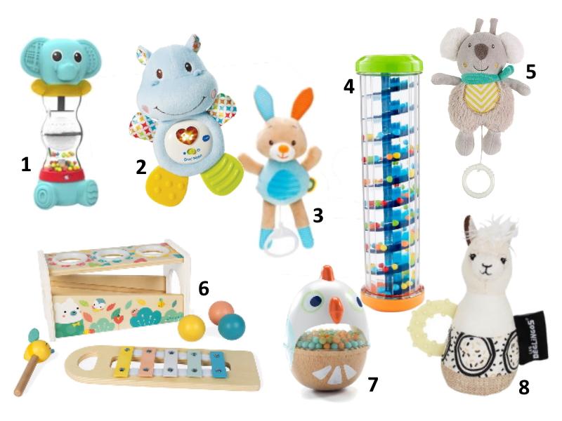 idées cadeaux sélection enfant bébé noel 6 à 12 mois jouets éveil petit prix musique musical