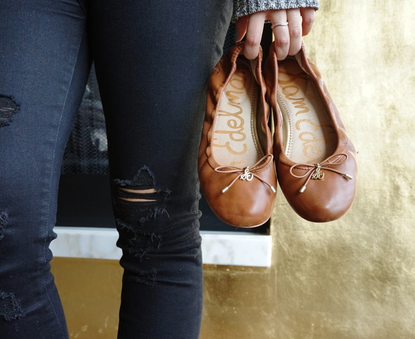 9cfe1d673face Sam Edelman Felicia Flats in Saddle Leather - One Year Use Review ...
