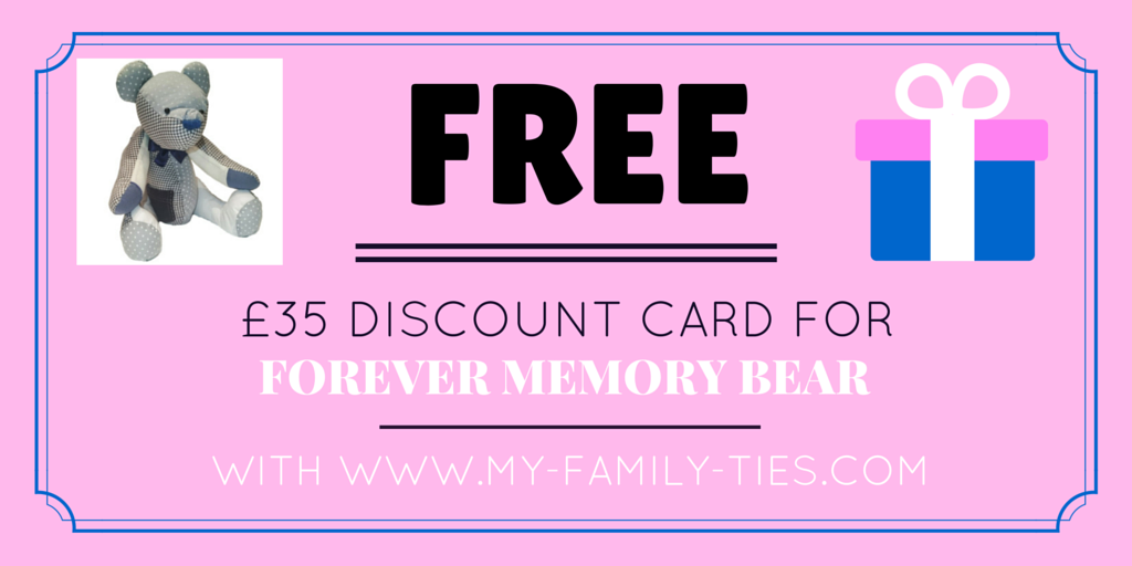 Free-voucher-to-redeem-at-Forever-Memory-Bears-worth-£35-with-my-family-ties-blog