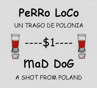 Reklama wściekłe psy drink shot w Ekwadorze