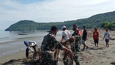 Peduli Lingkungan Bersihkan Sampai di  Pantai