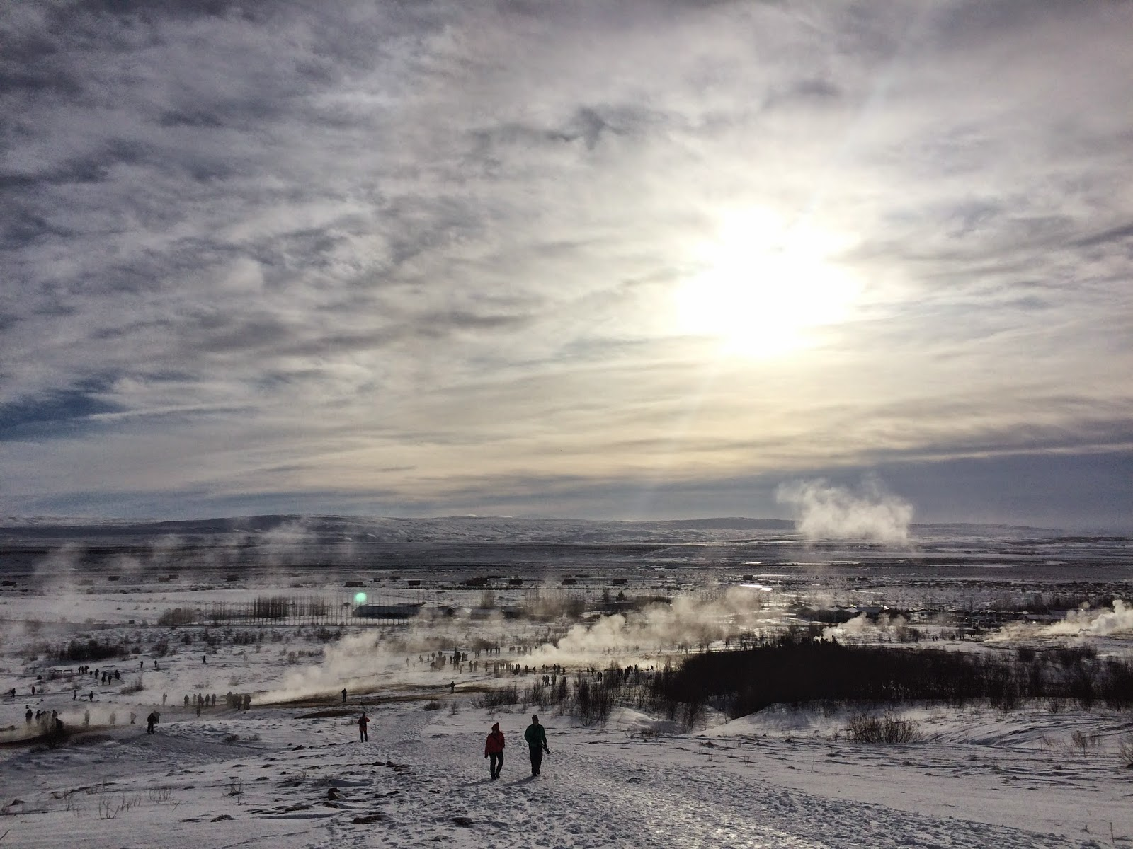 The view over the Geysir geo-thermal area - Golden Circle Tour - Iceland
