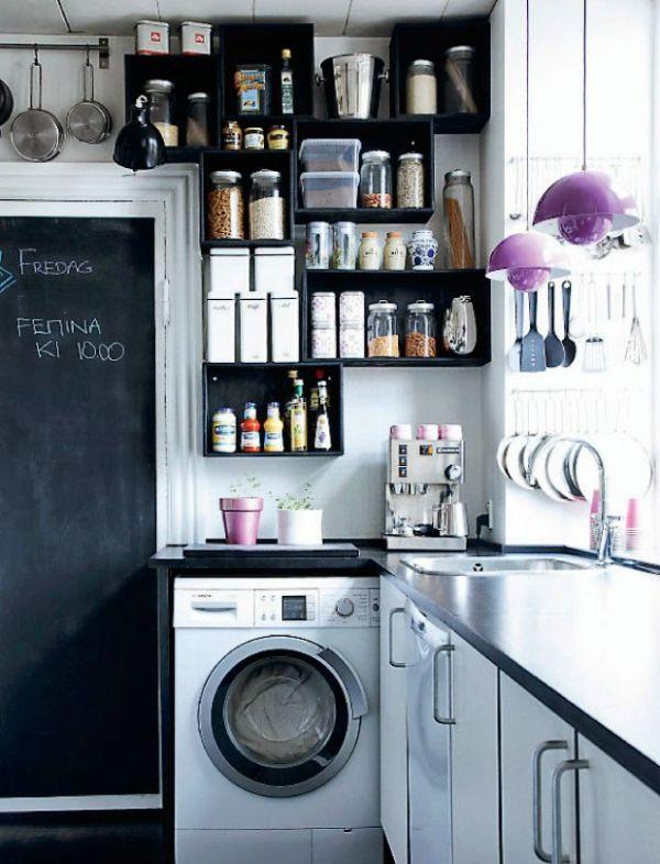De lunes a domingo 12 ideas para incorporar pintura de - Lavatrice in cucina ...