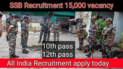 Ssb Recruitment Online apply