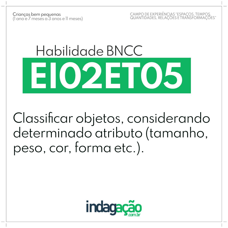 Habilidade EI02ET05 BNCC