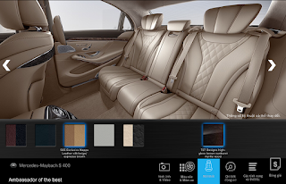 Nội thất Mercedes Maybach S400 4MATIC 2017 màu Vàng Silk / Nâu Espresso 505