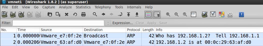 ARP في Wireshark