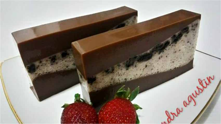 Puding Lapis Coklat Oreo by Sandra Agustin