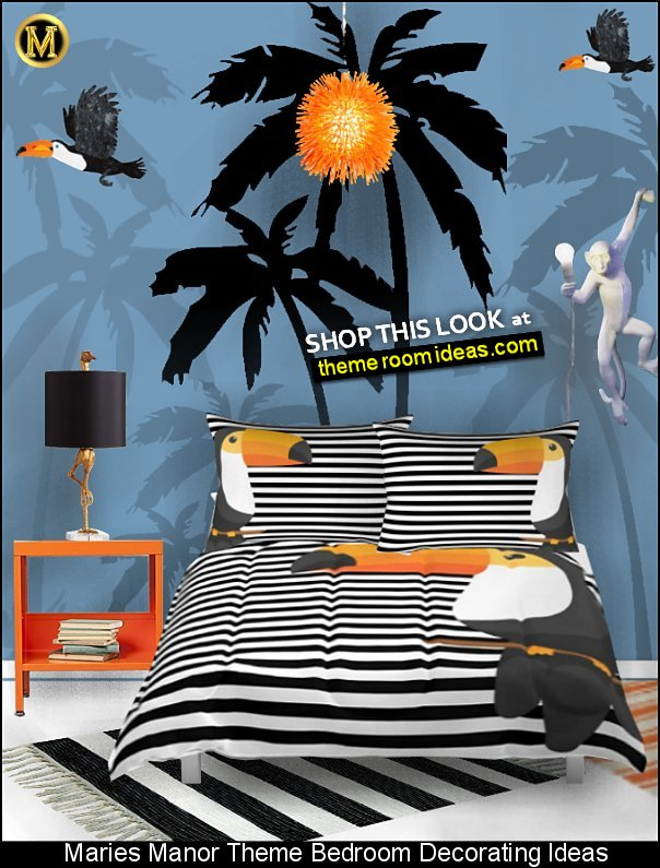 tropical bedding monkey lamps tropical room decor palm tree wall decals tropical birds