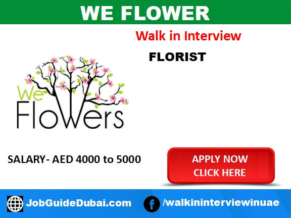 We Flowers Career for florist job in Dubai