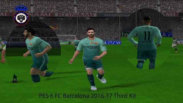 a749522b74e PES 6 FC Barcelona 2016-17 Third Kit. CREDITS  ULTIGAMERZ