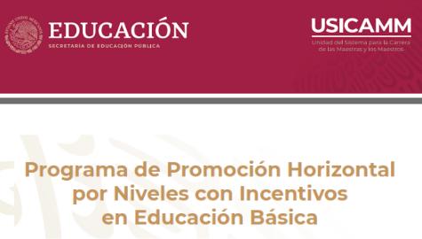 USICAMM - Promoción Horizontal por Niveles con Incentivos en Educacion Básica