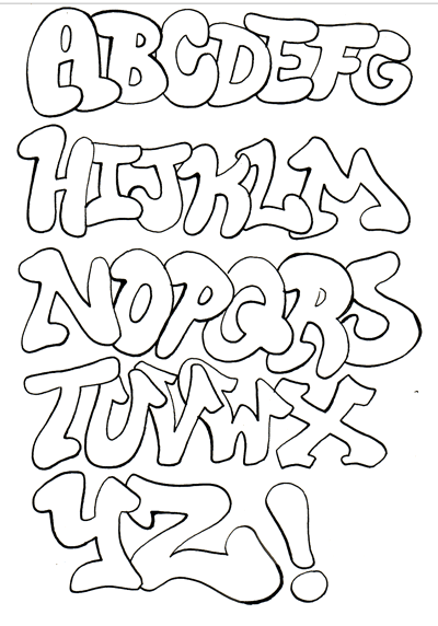 easy bubble drawing graffiti own alphabet lettering joy doing simple studio