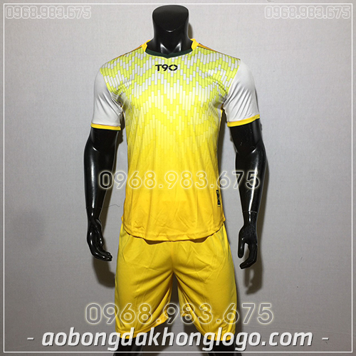 Áo bóng đá ko logo T90 Cli màu trắng