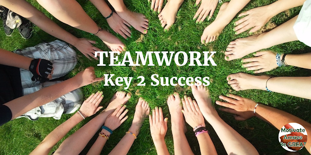 "Header image of the article: ""Why Teamwork Is Your Key To Success"" -  a list of reasons and factor showing you how Teamwork is very important to succeed in business or in life."