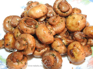 Ciuperci sote cu usturoi reteta romaneasca traditionala de casa prajite la ceaun cu ulei unt vin condimente si plante aromatice retete culinare rapide mancare garnitura mancaruri garnituri champignon mod de preparare,
