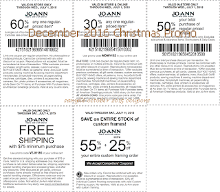 Joann coupons december 2016