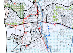 plan de zonage de la parcelle K486 ex jardinerie Grande Bastide