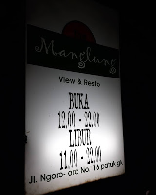 The Manglung View & Resto : Jam Operasional