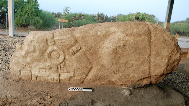 Prehispanic crocodile stone unearthed in Mexico